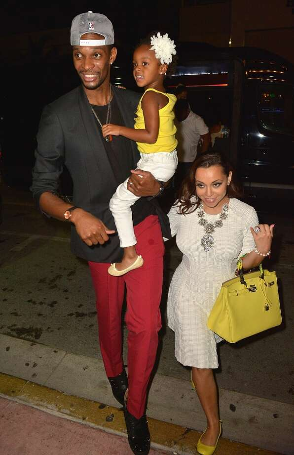 Chris Bosh, his wife Adrienne Bosh  is sighted at Prime 112 Steakhouse on June 3, 2013 in Miami Beach, Florida.  (Photo by Olivia Salazar/FilmMagic)