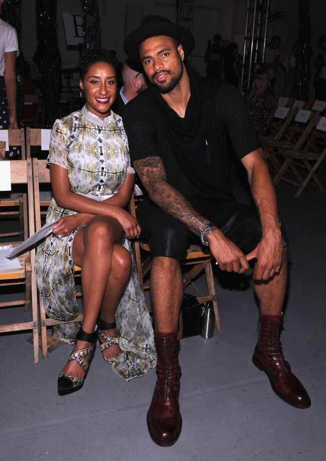 Kimberly and Tyson Chandler (R) attend Boy and Girl by Band of Outsiders Spring at the St. John's Center Studios on September 8, 2012 in New York City.  (Photo by Fernando Leon/Getty Images)
