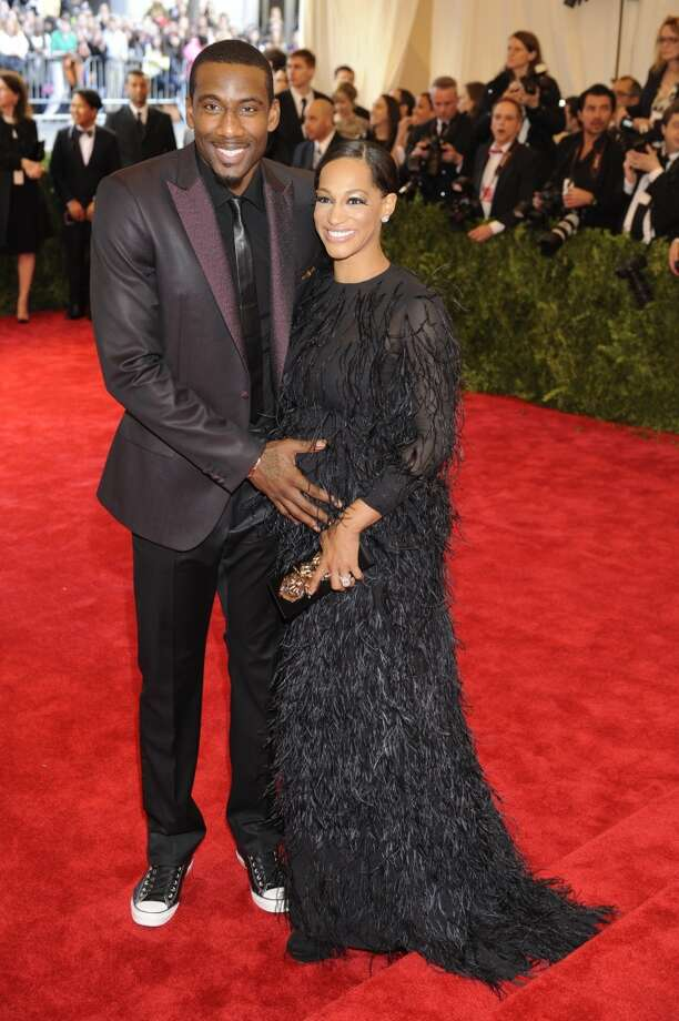 "Amar'e Stoudemire and Alexis Welch attends the Costume Institute Gala for the ""PUNK: Chaos to Couture"" exhibition at the Metropolitan Museum of Art on May 6, 2013 in New York City. (Photo by Rabbani and Solimene Photography/WireImage)"