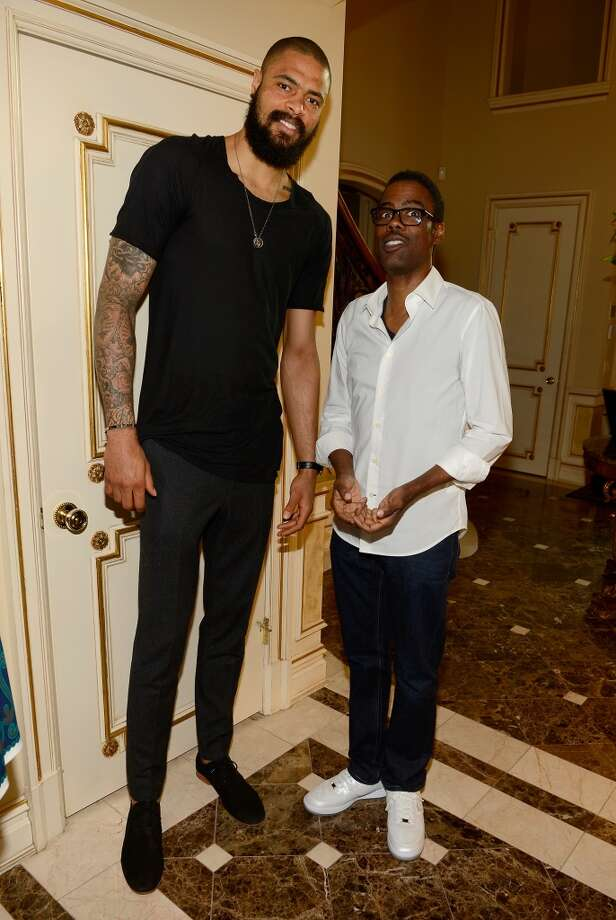 Basketball Player Tyson Chandler (L) and Chris Rock attend the 2013 Peace, Love & A Cure Triple Negative Breast Cancer Foundation Benefit on May 21, 2013 in Cresskill, New Jersey.  (Photo by Larry Busacca/Getty Images for the Triple Negative Breast Cancer Foundation)