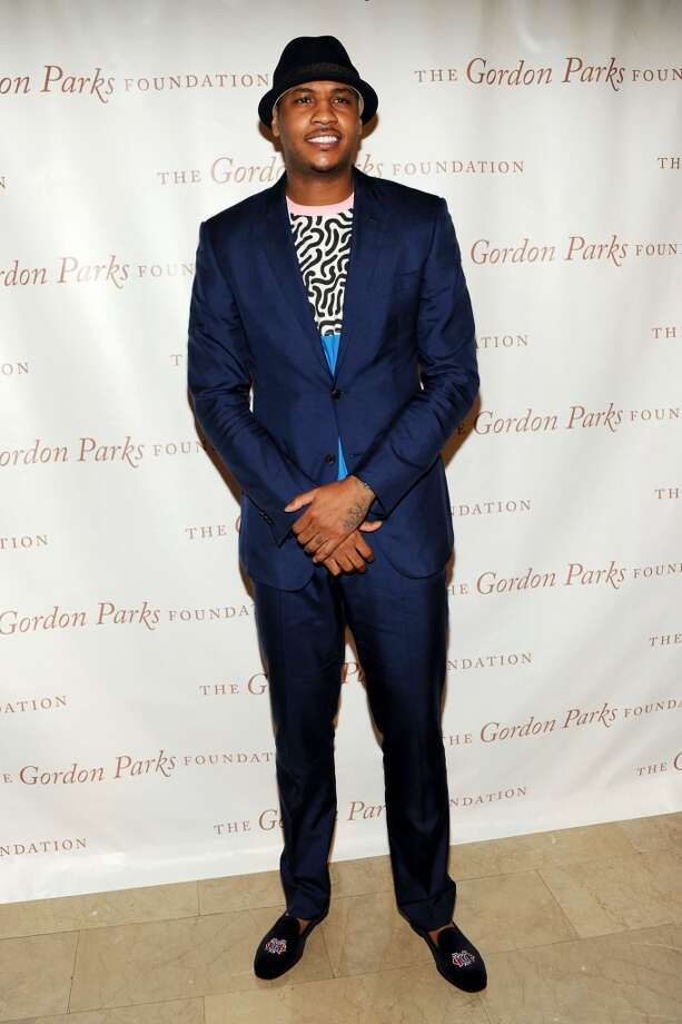 NBA Player Carmelo Anthony attends 2013 Gordon Parks Foundation Awards  at The Plaza Hotel on June 4, 2013 in New York City.  (Photo by Ben Gabbe/Getty Images)
