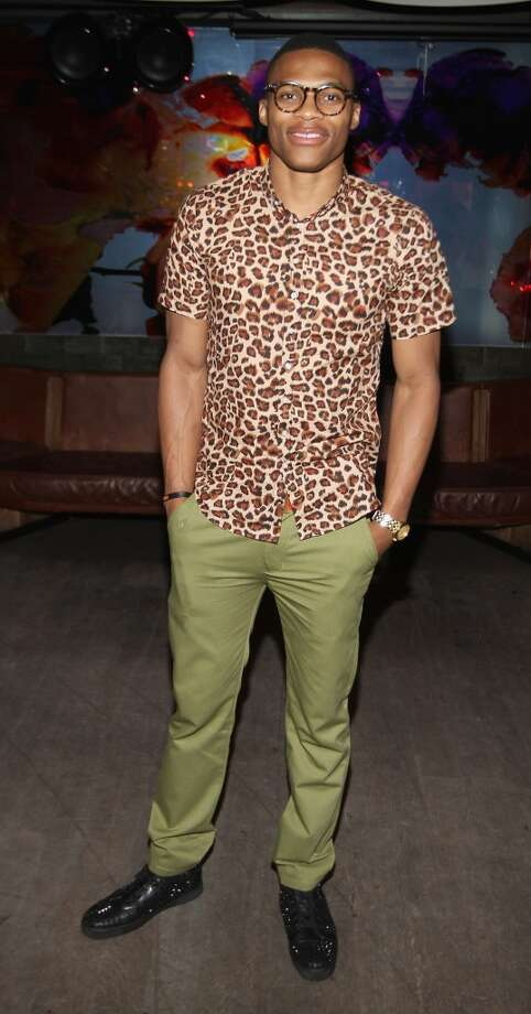 NBA Player Russell Westbrook attends the Richard Chai --Love show after party during Spring 2013 Mercedes-Benz Fashion Week at Catch on September 6, 2012 in New York City.  (Photo by Jerritt Clark/WireImage)