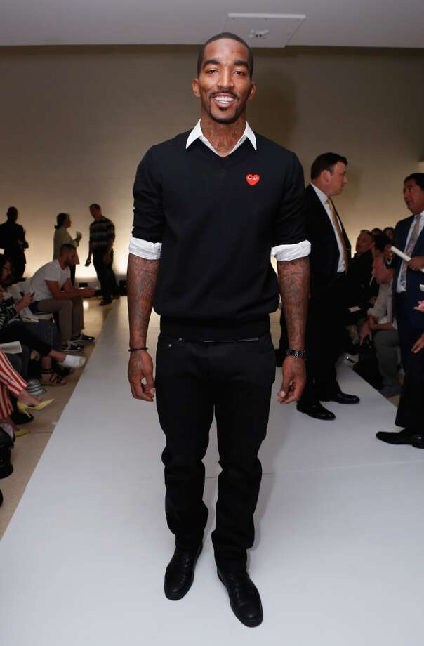 NBA player J.R. Smith attends the John Bartlett Runway Show during the Spring 2013 Mercedes-Benz Fashion Week at New York Public Library on September 11, 2012 in New York City.  (Photo by Cindy Ord/Getty Images for Mercedes-Benz Fashion Week)