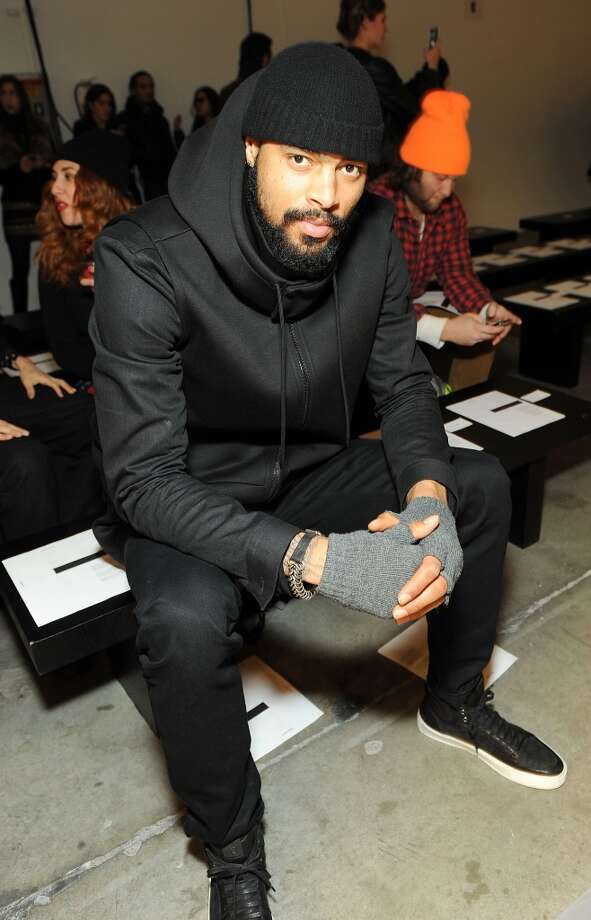 New York Knicks basketball player Tyson Chandler attends the Robert Geller Runway Show during Fall 2013 Mercedes-Benz Fashion Week at Pier 59 Studios on February 9, 2013 in New York City.  (Photo by Simon Russell/WireImage)