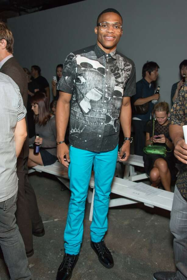 NBA player Russell Westbrook attends the Billy Reid show during Spring 2013 Mercedes-Benz Fashion Week at Eyebeam on September 7, 2012 in New York City  (Photo by Michael Stewart/WireImage)