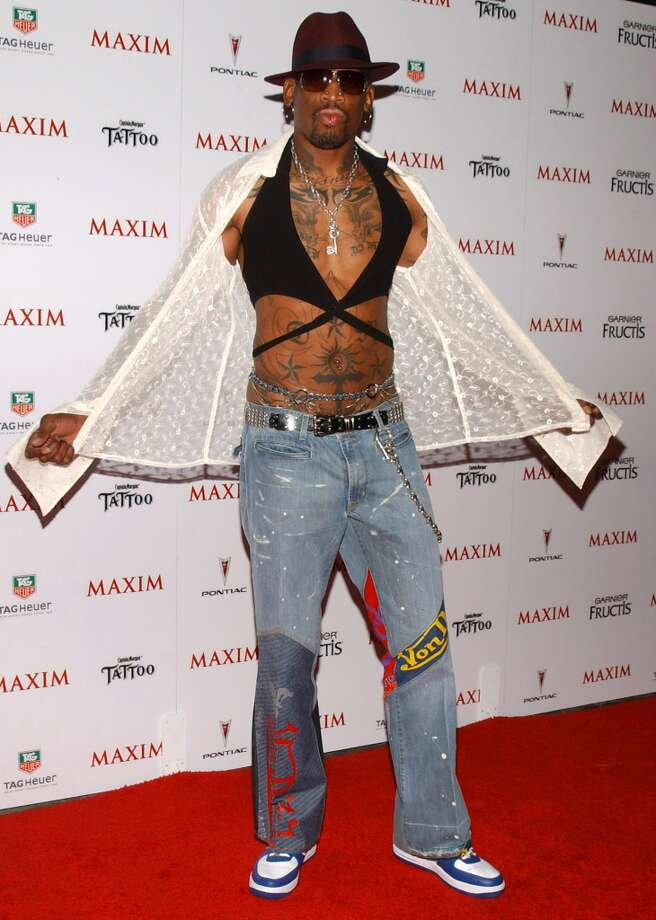 Dennis Rodman during Maxim Magazine's Hot 100 - Arrivals at Montmartre Lounge in Hollywood, California, United States. (Photo by Jean-Paul Aussenard/WireImage)