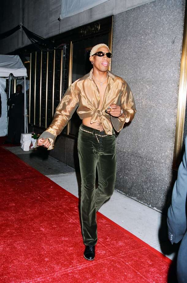 Dennis Rodman during 1996 MTV Video Music Awards Arrivals at Las Vegas Country Club in Los Angeles, California, United States. (Photo by Jeff Kravitz/FilmMagic, Inc)