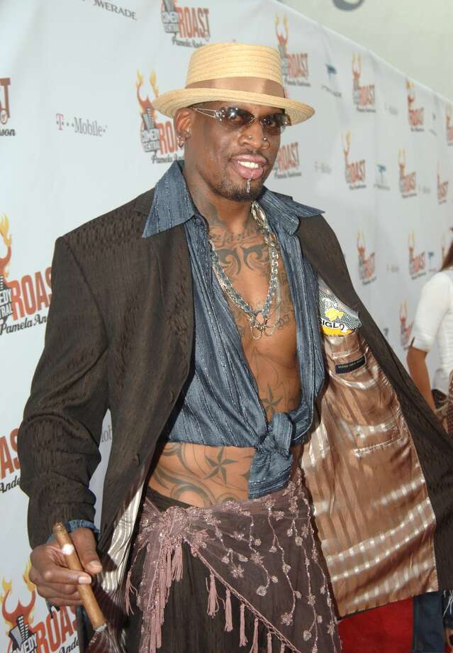 Dennis Rodman during Comedy Central Roast of Pamela Anderson - Red Carpet at Sony Studio in Culver City, California, United States. (Photo by Jeff Kravitz/FilmMagic)