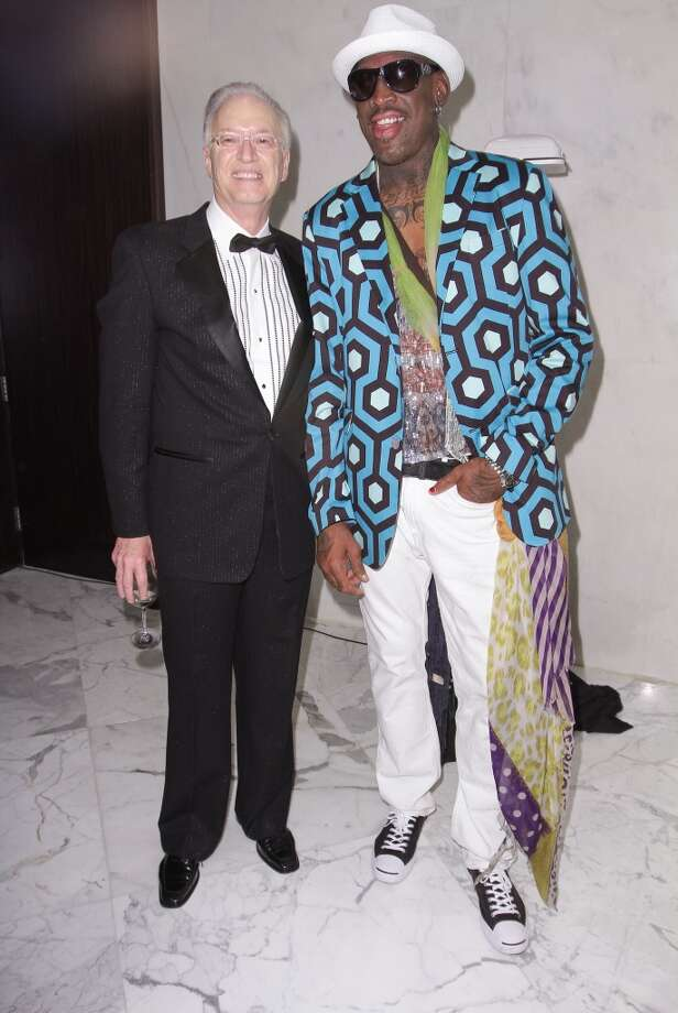 Roy Black and Dennis Rodman attends The Blacks' Annual Gala 2013 at Fontainebleau Miami Beach on April 13, 2013 in Miami Beach, Florida. (Photo by John Parra/Getty Images for The Blacks' Annual Gala 2013)
