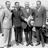 William Randolph Hearst Jr., Cal. Hearst Jr., left, is seen with David Hearst, William Randolph Hearst Sr., and Randolph Apperson Hearst in 1936.