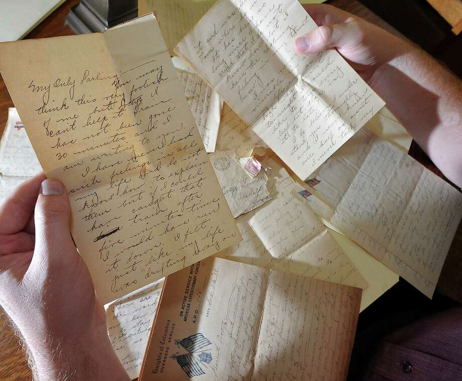 In the Tyrrell Library's collection, they have a collection of approximately 76 letters written to Lottye Fewell, from Tom Woods, while he served overseas in WWI. They were written between March 21, 1918, through October 24, 1919 and also include the envelopes as well as some postcards. They were married after he came home.  Dave Ryan/The Enterprise Photo: Dave Ryan