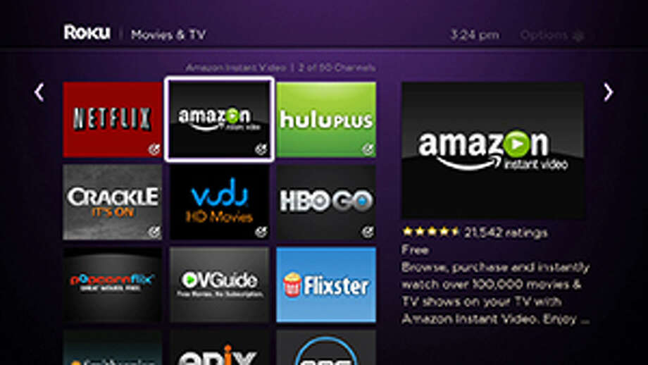 Roku has a very nice Amazon Instant Video channel. Photo: Roku
