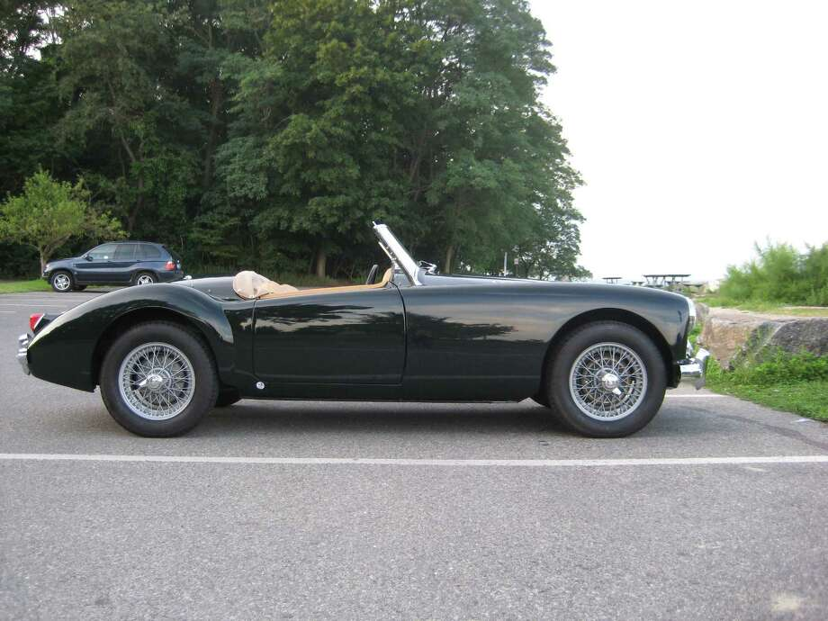 The 1957 MGA 1500 Roadster, which will be among the vintage vehicles on display at the eighth annual Darien Collectors Car Show, was the subject of a complete restoration by Automotive Restorations Inc. of Stratford. Photo: Contributed