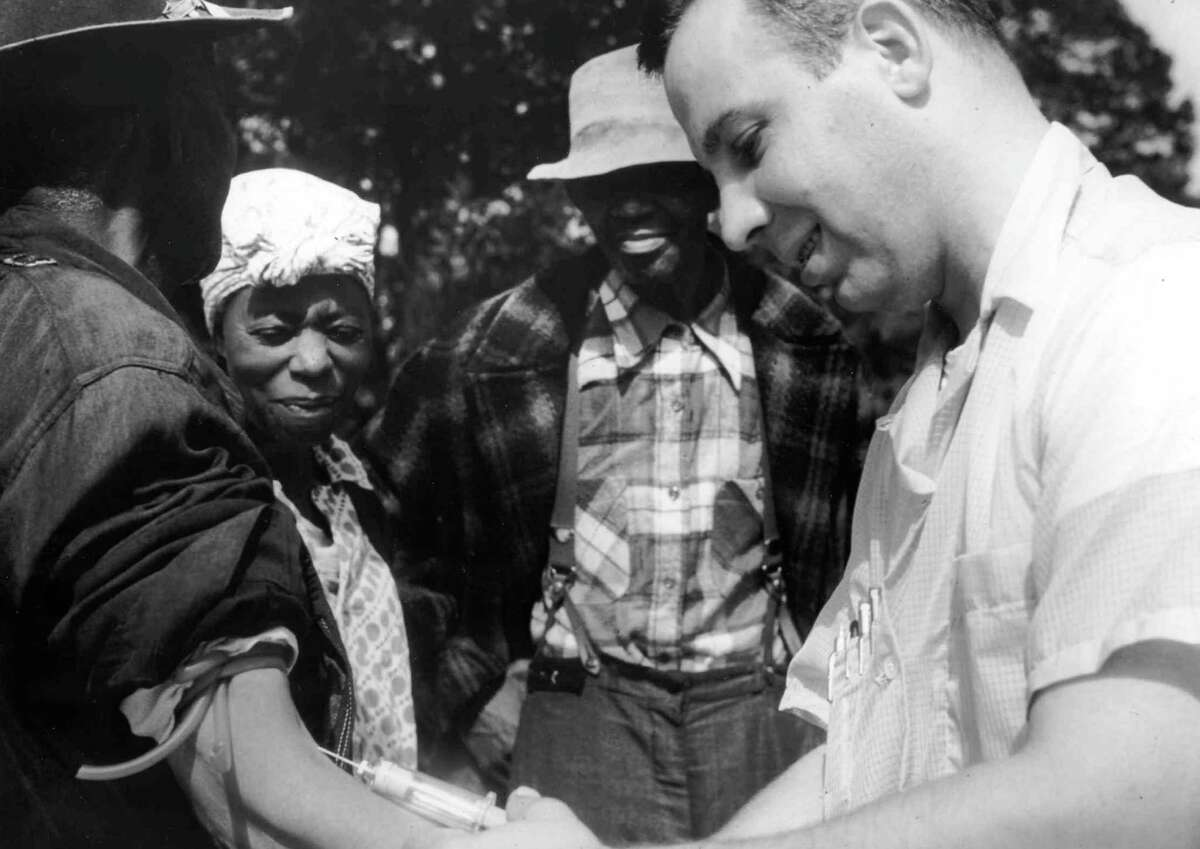 In 1966 Peter Buxton blew the whistle on the U.S. Public Health Service's Tuskegee Experiment, in which poor rural black men in Alabama were not told they had acquired syphilis (which they had previously contracted) as part of an experiment to learn about the long-term affects of untreated syphilis.