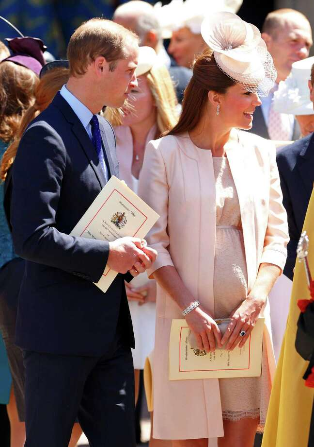 Prince William, Duke of Cambridge and Catherine, Duchess of Cambridge attend a service of celebration to mark the 60th anniversary of the Coronation of Queen Elizabeth II at Westminster Abbey on June 4, 2013 in London, England. The Queen's Coronation took place on June 2, 1953 after a period of mourning for her father King George VI, following her ascension to the throne on February 6, 1952. The event 60 years ago was the first time a coronation was televised for the public. Photo: Max Mumby/Indigo, Max Mumby/Indigo/Getty Images / 2013 Max Mumby/Indigo Max Mumby/Indigo/Getty Images