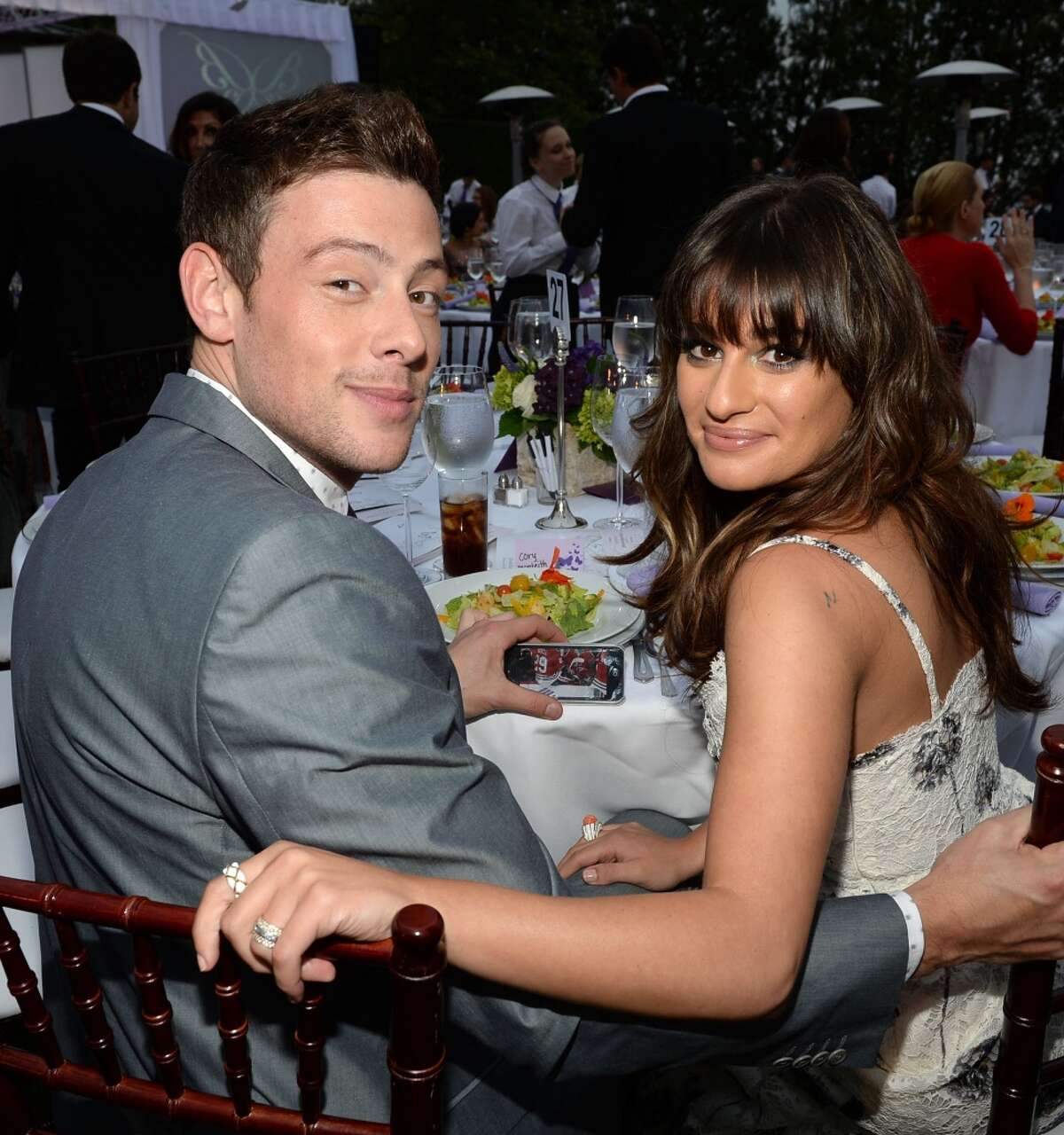 LOS ANGELES, CA - JUNE 08: Actors Cory Monteith(L) and Lea Michele attend the 12th Annual Chrysalis Butterfly Ball on June 8, 2013 in Los Angeles, California. (Photo by Michael Buckner/Getty Images for Chrysalis)