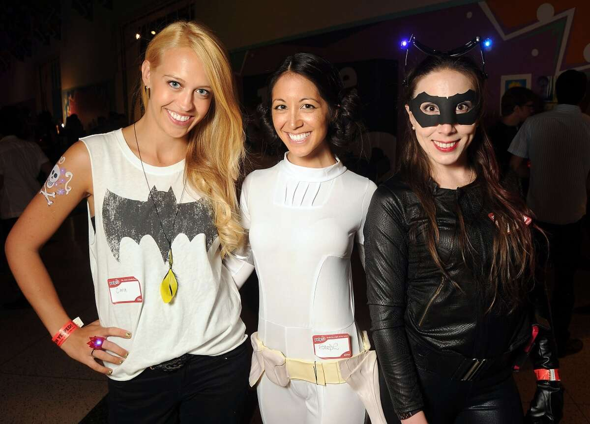 Cara Lyons, left, Stephanie Sumcad and Janice Makinen