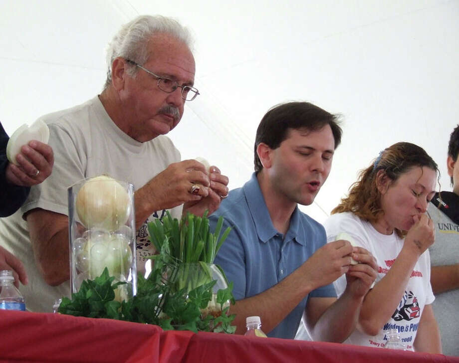 Texas onion lovers can rejoice -- Weslaco is home to the Texas Onion Fest. The annual event takes place in March. The fest was created to celebrate the Texas 1015 onion, which originated in Weslaco. The Onion Fest includes events such as music performances, eating contests and a pageant. Photo: COURTESY PHOTO