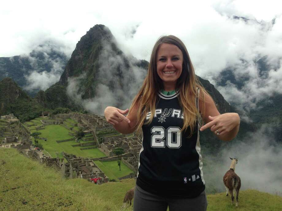 A long-planned Trip to Machu Picchu, Peru during The Finals didn't stop me from repping my team- even at high up in the Andes!! Always gotta wear #20! Photo: Courtesy