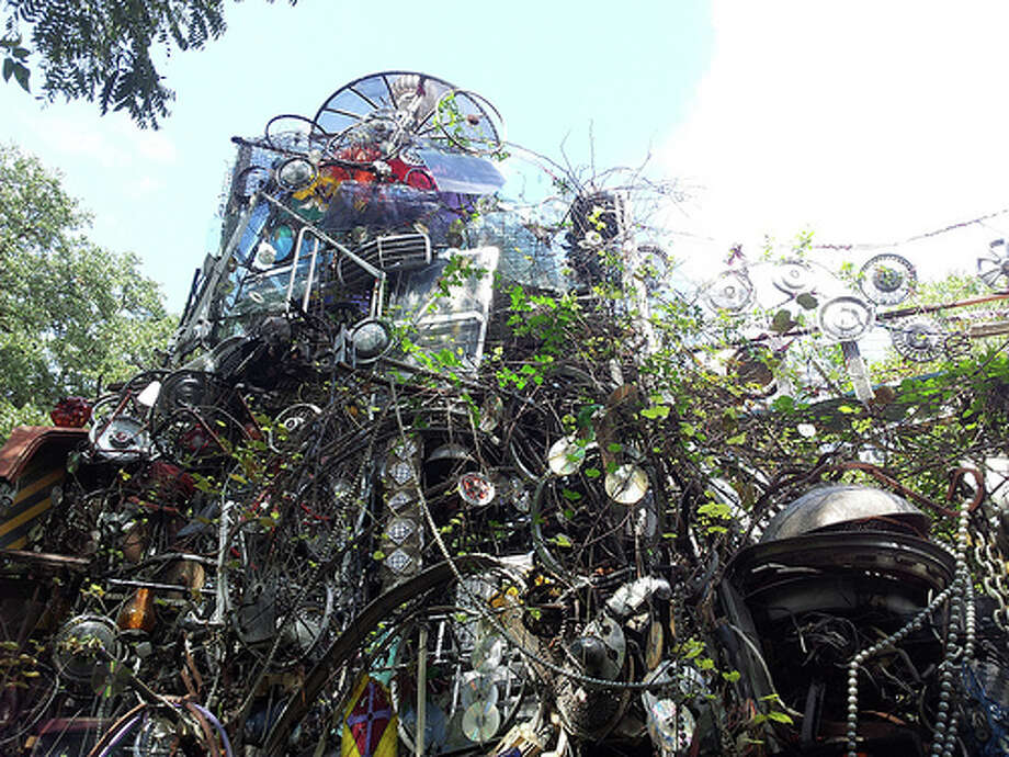 Austin is home to the Cathedral of Junk, which is built from random objects that people bring to creator Vince Hannemann. Construction upon the hollow art piece began in 1988. It has been used for events, such as bachelor parties and weddings. To visit the Cathedral, those interested must call ahead at 512-299-7413. Photo: Aleksander Zykov / Flickr