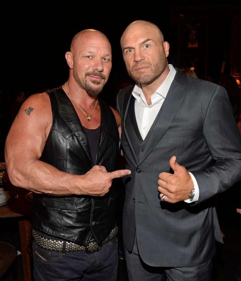 CULVER CITY, CA - JUNE 08:  (L-R) TV personality Todd Howard and MMA fighter Randy Couture  attend Spike TV's Guys Choice 2013 at Sony Pictures Studios on June 8, 2013 in Culver City, California.  (Photo by Jason Kempin/Getty Images for Spike TV)