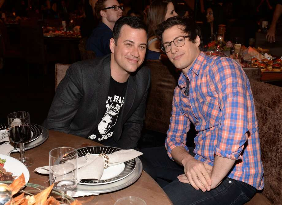 CULVER CITY, CA - JUNE 08:  TV personality Jimmy Kimmel (L) and actor Andy Samberg attend Spike TV's Guys Choice 2013 at Sony Pictures Studios on June 8, 2013 in Culver City, California.  (Photo by Jason Kempin/Getty Images for Spike TV)