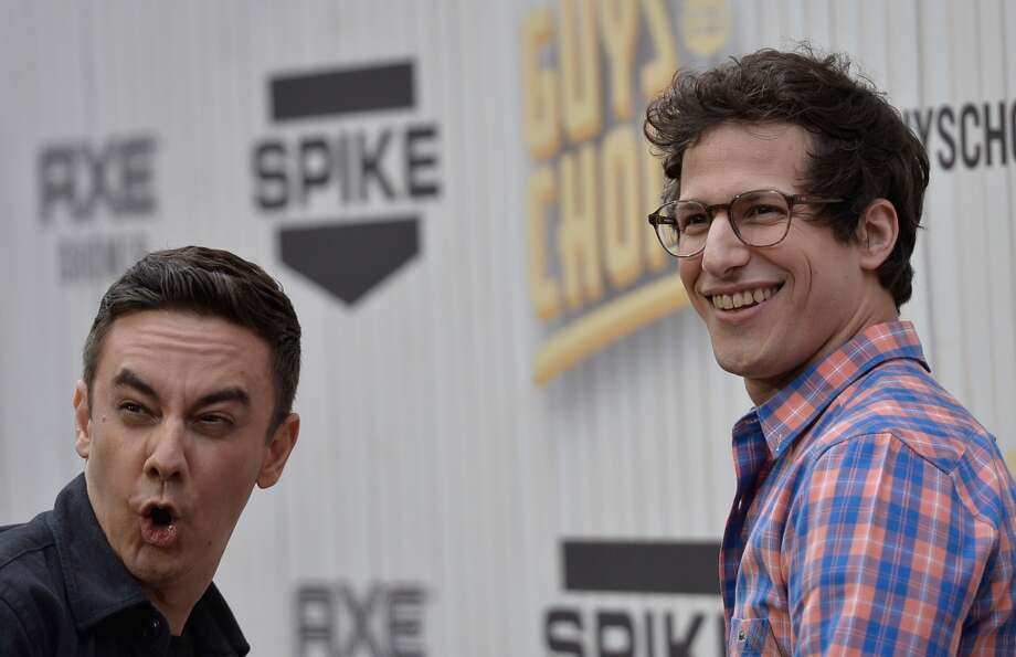 CULVER CITY, CA - JUNE 08:  Writer Jorma Taccone and actor Andy Samberg attend Spike TV's Guys Choice 2013 at Sony Pictures Studios on June 8, 2013 in Culver City, California.  (Photo by Frazer Harrison/Getty Images for Spike TV)
