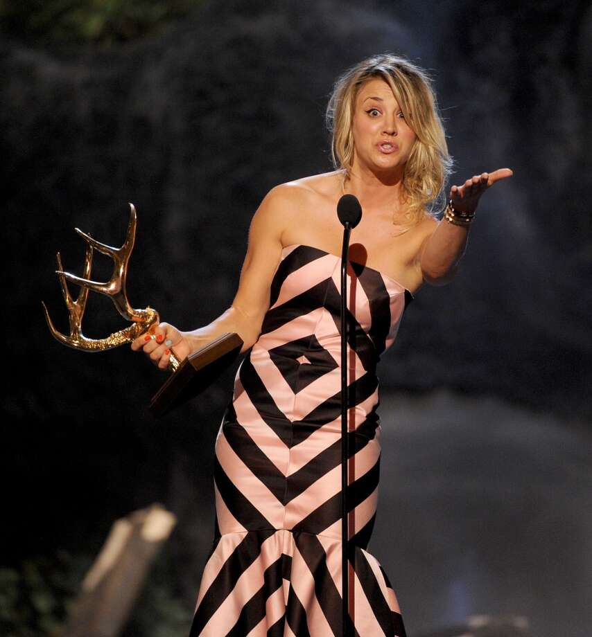 CULVER CITY, CA - JUNE 08:  Actress Kaley Cuoco onstage during Spike TV's Guys Choice 2013 at Sony Pictures Studios on June 8, 2013 in Culver City, California.  (Photo by Kevin Winter/Getty Images for Spike TV)