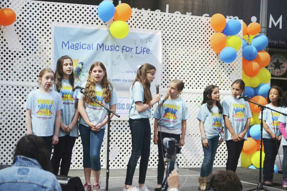 Magical Music Mini Singers performed at the Magical Music for Life Foundation's recent second annual Tunes in Times Square. Photo: Contributed