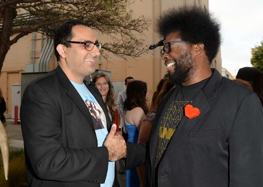 "CULVER CITY, CA - JUNE 08:  Publicist Salil Gulati (L) and musician Ahmir 'Questlove' Thompson of The Roots attend Spike TV's ""Guys Choice 2013"" at Sony Pictures Studios on June 8, 2013 in Culver City, California.  (Photo by Jason Merritt/Getty Images for Spike TV)"
