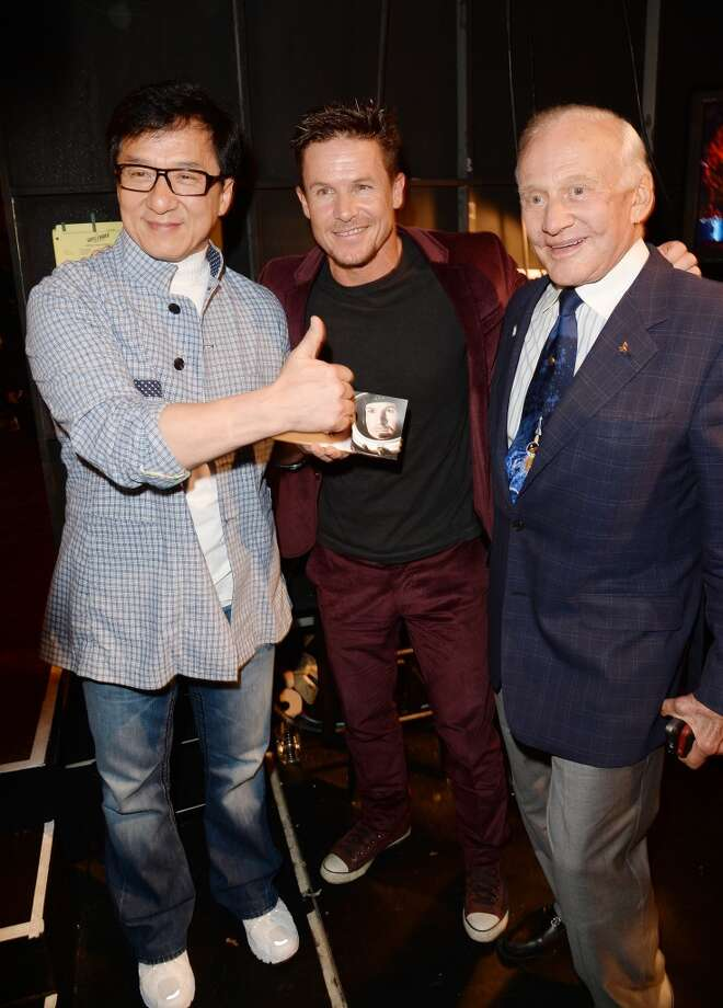 CULVER CITY, CA - JUNE 08:  (L-R) Jackie Chan, daredevil Felix Baumgartner, and astronaut Buzz Aldrin attend Spike TV's Guys Choice 2013 at Sony Pictures Studios on June 8, 2013 in Culver City, California.  (Photo by Jason Merritt/Getty Images for Spike TV)