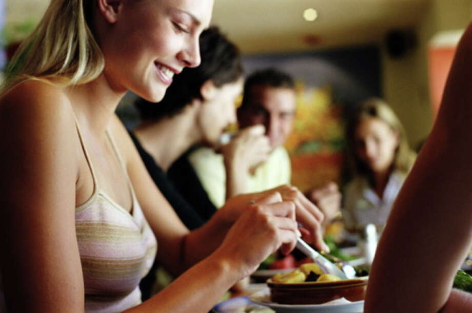 2. Eat until you feel satisfied, not fullYou've heard this before. Etiquette author Emily Post believed that a polite lady should put down her fork between every bite, a technique that also helps you realize when to stop eating before you feel bloated.