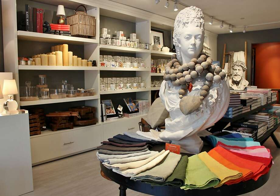 Hudson Grace on Sacramento Street offers eclectic fashion pieces and modern tabletop items. Photo: Stephanie Wright Hession, Special To The Chronicle