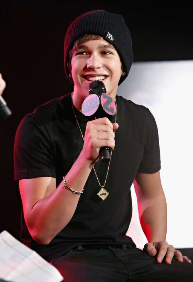 "Z100 hosts a live chat and performance with singer Austin Mahone on Friday to celebrate the world premiere of his new single, ""What About Love."""