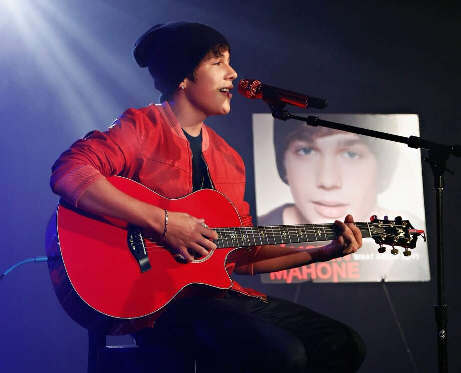 Austin Mahone performs at the iHeartRadio Thratre in New York on Friday.