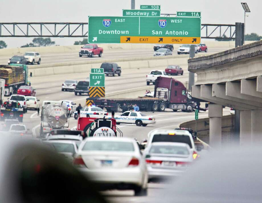 Try the rush hour traffic on Interstate 10 — in Houston. Jealous? Photo: Karen Warren, Houston Chronicle / © 2012 Houston Chronicle