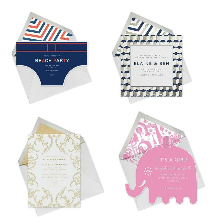 Paperless Post offers a line of products designed by Oscar de la Renta; the company will soon be launching a collaboration with Jonathan Adler which will focus on summer entertaining and weddings. Photo: Paperless Post