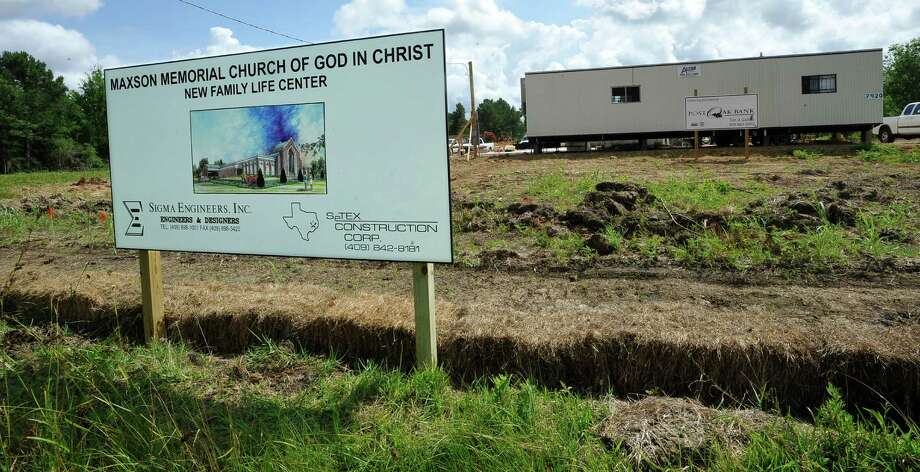 The Maxson Memorial Church of God recently broke ground on a new facility on Major Drive. The new center will feature more than just a sanctuary. It will have classrooms, offices, a gym and a sanctuary.  Dave Ryan/The Enterprise