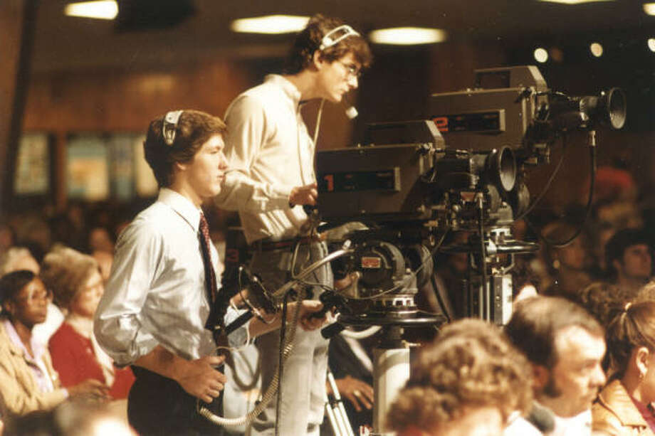 A young Joel Osteen mans the camera at Lakewood Church. Joel left his studies at Oral Roberts University to begin Lakewood's television ministry in 1982. Photo: Provided By Lakewood Church