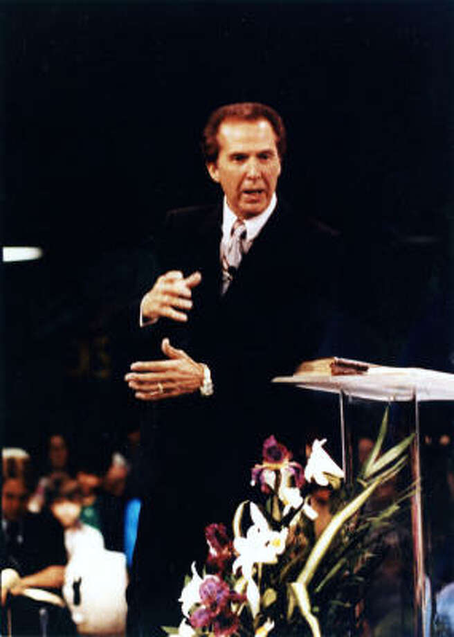 Pastor John Osteen preaches in the 1990s. Photo: Provided By Lakewood Church
