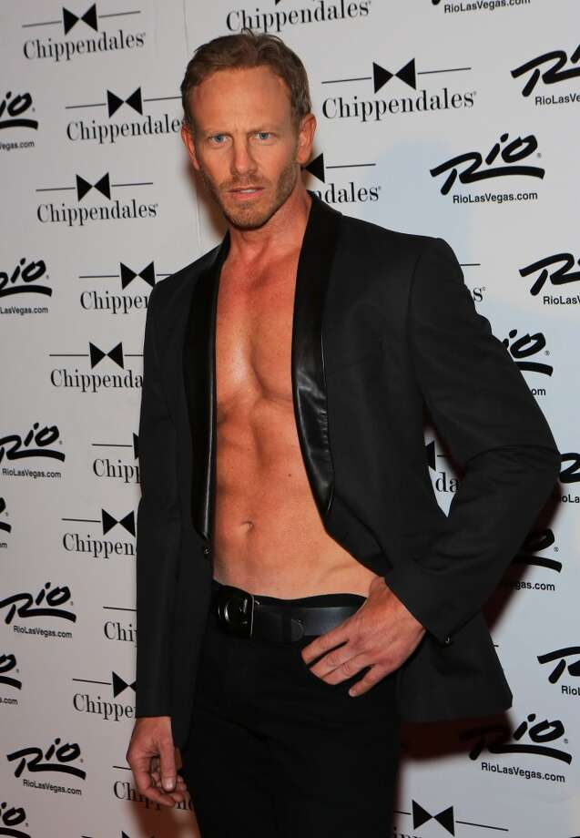 LAS VEGAS, NV - JUNE 08:  Actor Ian Ziering arrives to guest host Chippendales at the Rio Hotel & Casino on June 8, 2013 in Las Vegas, Nevada.  (Photo by Gabe Ginsberg/FilmMagic)