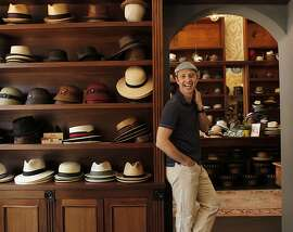 Olympic gold medalist  U.S. men's figure skater Brian Boitano visits one of his favorite shops, Goorin Brothers Hats in the North Beach neighborhood in San Francisco, Calif. on Friday May 17, 2013.