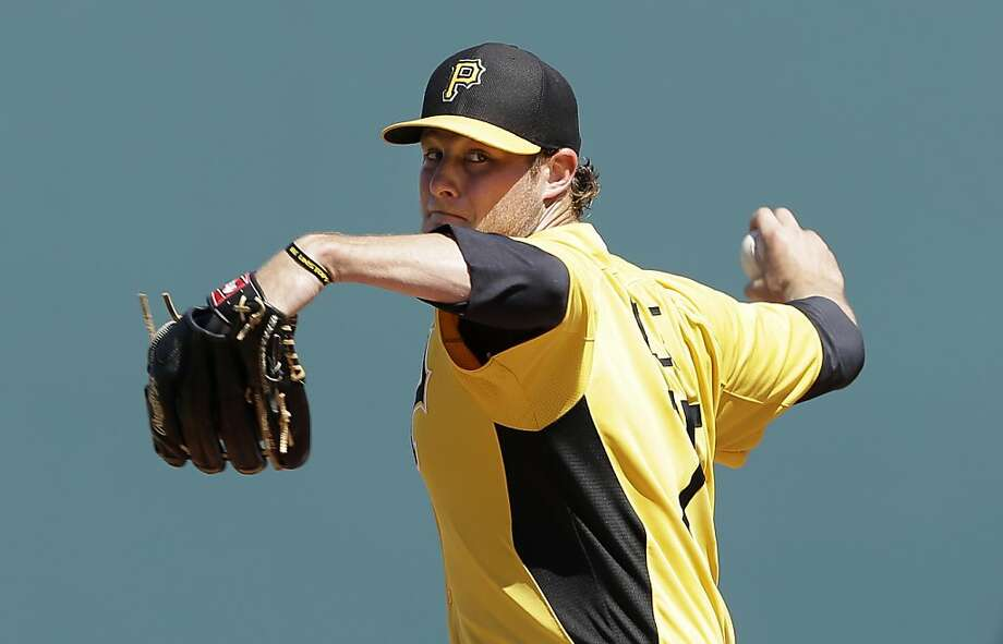 Gerrit Cole, drafted first overall by the Pirates in 2011, has a 5-3 record with a 2.91 ERA at Triple-A Indianapolis this year. Photo: Charlie Neibergall, Associated Press