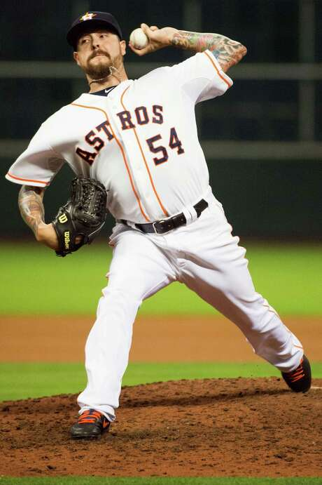 Travis Blackley has been a steady presence in the bullpen during his first season with the Astros, making 23 appearances, which ranks fourth on the team. Photo: Smiley N. Pool / © 2013  Smiley N. Pool