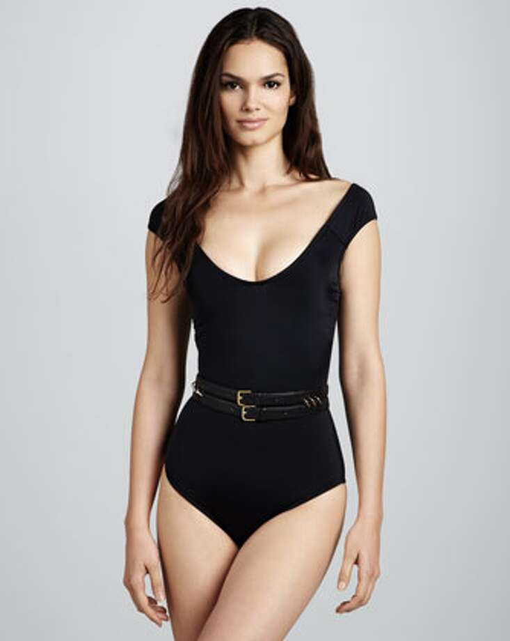 RETRO: Oh so Dolce Vita. Pair with a skirt after the sun goes down. OYE Swimwear Sandy Scoop-Neck Swimsuit, Neiman Marcus ($295) Photo: Neiman Marcus