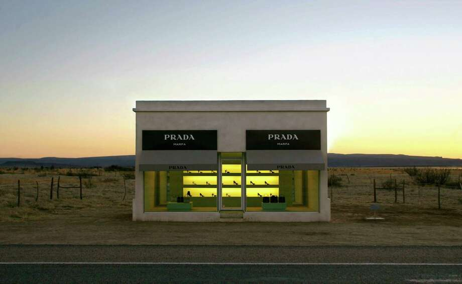 Those driving on U.S. 90 near Valentine may be surprised to see not only desolate desert, but an isolated Prada store. Prada Marfa is a desert sculpture erected by artists Michael Elmgreen and Ingar Dragset. Filled with bottomless Prada bags and right shoes provided by Miuccia Prada, spectators cannot enter the building. The store is also surrounded by business cards left by visitors. The store will not be maintained however; graffiti and decay will be part of the piece of art. Photo: MATT SLOCUM, AP / AP
