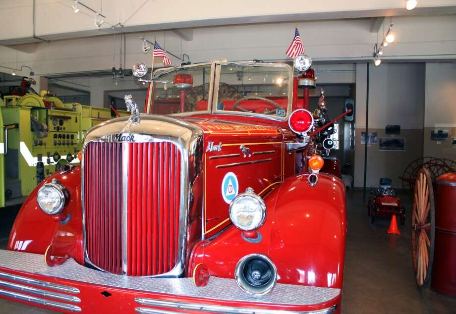A 1951 Mack fire truck is one of the historical vehicles displayed in the museum. Photo: Emily Bamforth, Express-News