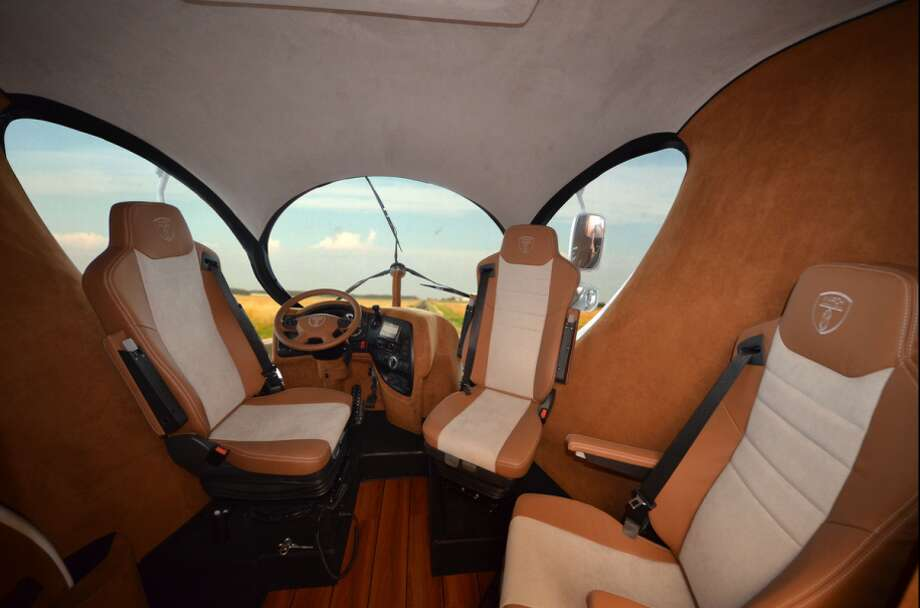 This is where the driver sits on the top floor. Photo: Business Insider Via Marchi Mobile