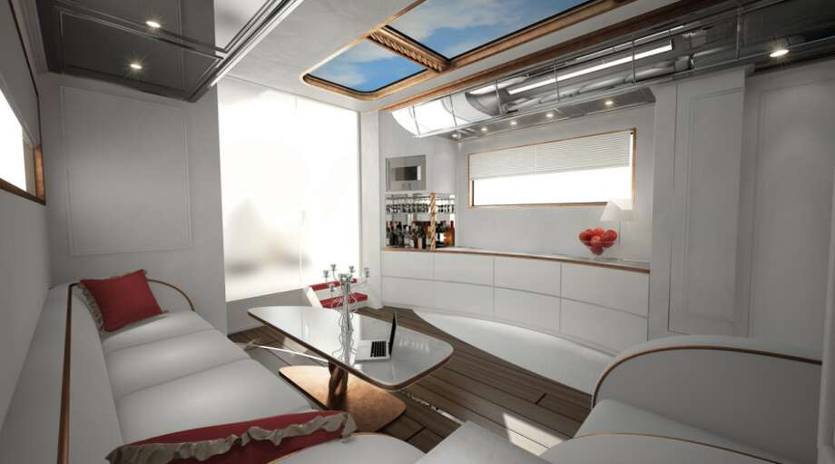 There's also a cocktail lounge area for entertaining. Photo: Business Insider Via Marchi Mobile
