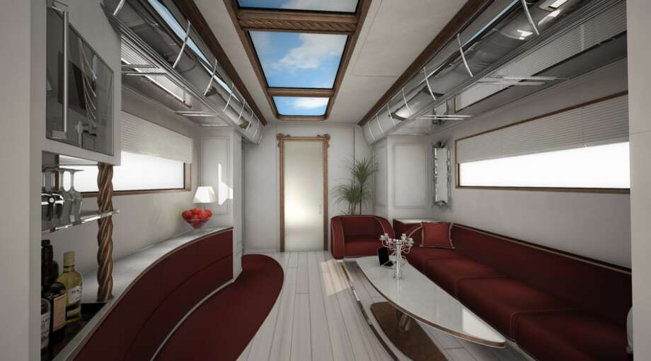 Inside, there is ample space for for lounging. Photo: Business Insider Via Marchi Mobile